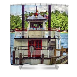 Chief Waupaca Shower Curtain by Trey Foerster