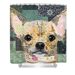 Chihuahua Collage Shower Curtain by Claudia Schoen