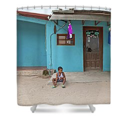 Child And House Shower Curtain