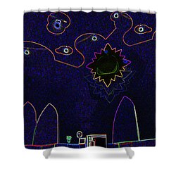 Child Art 3 Shower Curtain by Bruce Iorio