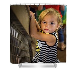 Shower Curtain featuring the photograph Child In The Light by Bill Pevlor