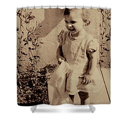 Shower Curtain featuring the photograph Child Of  The 1940s by Linda Phelps
