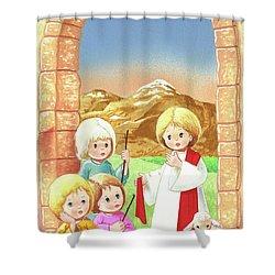 Child Shepherds Shower Curtain