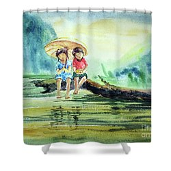 Childhood Joys Shower Curtain