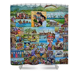 Childhood Memories Of My Mother Country Pilipinas Shower Curtain