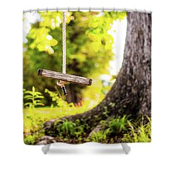 Shower Curtain featuring the photograph Childhood Memories by Shelby Young