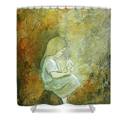 Childhood Wishes Shower Curtain