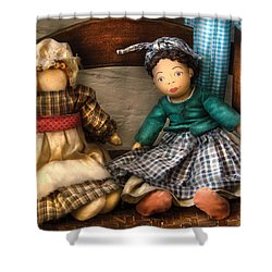 Children - Toys -  Dolls Americana  Shower Curtain by Mike Savad
