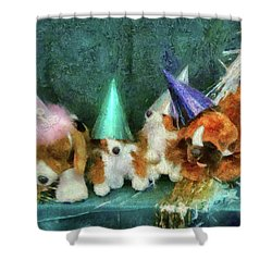 Children - Toys - Let's Get This Party Started Shower Curtain by Mike Savad