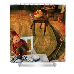 Children - Toys - The Tea Party Shower Curtain by Mike Savad