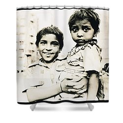Of Hope And Fear, Children In Mexico Shower Curtain