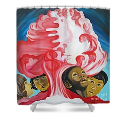 All God's Children.             Children Of The Nuclear Age Shower Curtain