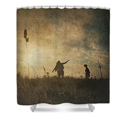 Children Playing Shower Curtain
