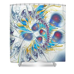 Shower Curtain featuring the digital art Child's Play by Anastasiya Malakhova