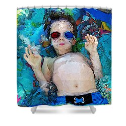 Childs Play Shower Curtain by Christopher McKenzie