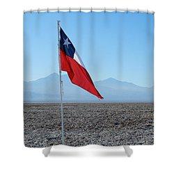 Chilean Flag Shower Curtain
