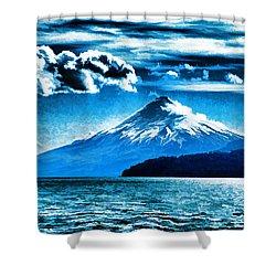 Chilean Volcano Shower Curtain by Dennis Cox