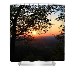 Shower Curtain featuring the photograph Chilhowee Sunset by Kathryn Meyer