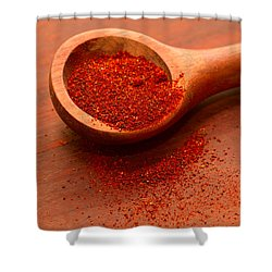 Chili Powder Shower Curtain by Louise Heusinkveld