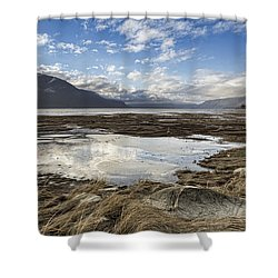 Chilkat Estuary Reflections Shower Curtain by Michele Cornelius