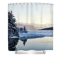 Chilkoot Inlet In Winter Shower Curtain