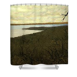 Chill Spring Shower Curtain by RC deWinter