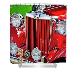 Shower Curtain featuring the photograph Chillipepper 1952 Mg by Chris Dutton