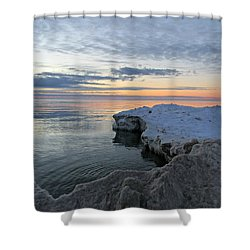 Shower Curtain featuring the photograph Chilly View by Greta Larson Photography
