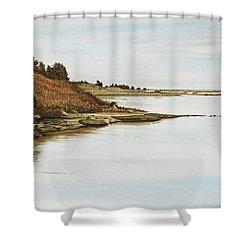 Chilmark Mv Stonewall Pond Shower Curtain