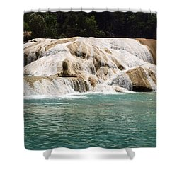 Chilon Waterfall. Shower Curtain by Shlomo Zangilevitch