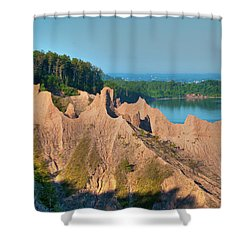 Chimney Bluffs 1750 Shower Curtain