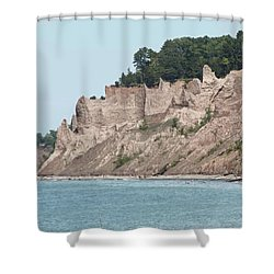 Chimney Bluffs Shower Curtain