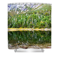 Chimney Pond Reflections 2 Shower Curtain by Glenn Gordon