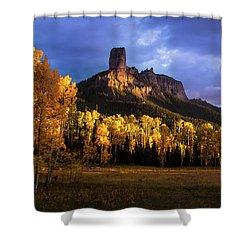 Chimney Rock Colorado Shower Curtain