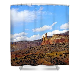 Chimney Rock Ghost Ranch New Mexico Shower Curtain