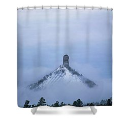Chimney Rock Rising Shower Curtain by Jason Coward