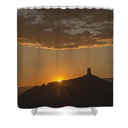 Chimney Rock Sunset Shower Curtain