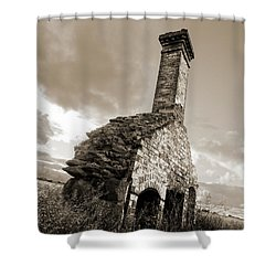 Chimney Ruins Shower Curtain