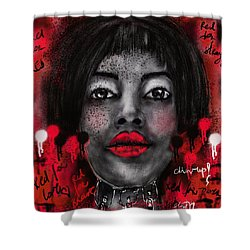 Chin Up Shower Curtain