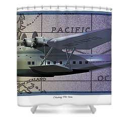 China Clipper Chasing The Sun Shower Curtain