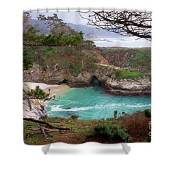 China Cove At Point Lobos Shower Curtain by Charlene Mitchell