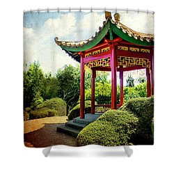 China In New Zealand Shower Curtain