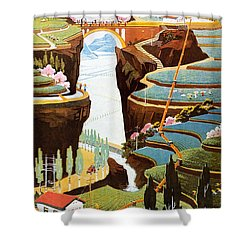 China: Poster, 1975 Shower Curtain by Granger