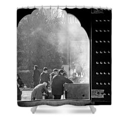 China Temple Shower Curtain