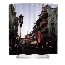 China Town San Francisco  Shower Curtain by Ted Pollard