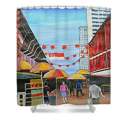 China Town Singaporesg50 Shower Curtain