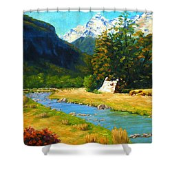 Chinamans Bluff Shower Curtain