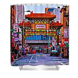 Chinatown Arch Philadelphia Shower Curtain by Bill Cannon