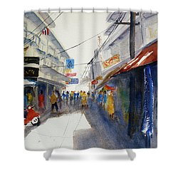 Chinatown, Bangkok Shower Curtain by Tom Simmons