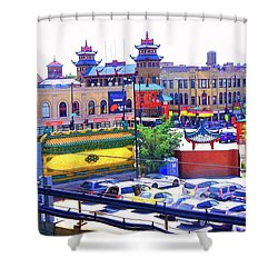 Shower Curtain featuring the photograph Chinatown Chicago 1 by Marianne Dow
